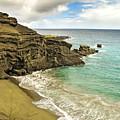 Green Sand Beach On Hawaii by Brendan Reals