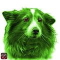 Green Shetland Sheepdog Dog Art 9973 - Wb by James Ahn