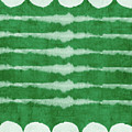 Green Shibori 3- Art By Linda Woods by Linda Woods
