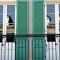 Green Shutters Reflections by KG Thienemann