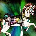 Green Splash Carousel Horse by Patty Vicknair