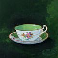 Green Teacup by Sharon Steinhaus