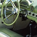 Green Thunderbird Wheel And Front Seat by Heather Kirk