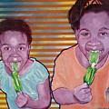 Green-tongued Cousins 2014 by Reuben Cheatem