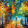 Green Tree by Leonid Afremov