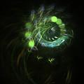 Green Vortex - Panel 3 by AGeekonaBike Fine