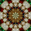 Green White Red Blue Kaleidoscope 1 by Chandra Nyleen