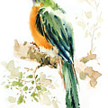 Green Wild Bird by Pornthep Piriyasoranant