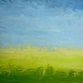 Greener Pasture 3- Digital Painting by Kathy  Symonds