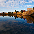 Greenlake Fall Reflections by Mike Reid