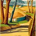Greet The Sun By London Underground - Metro, Suburban - Retro Travel Poster - Vintage Poster by Studio Grafiikka