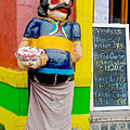 Greeter At Pizzeria In La Boca Area Of Buenos Aires-argentina- by Ruth Hager