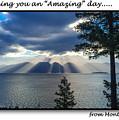 Greeting Card - Flathead Lake by Jerrie Bullock