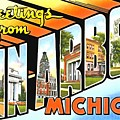 Greetings From Ann Arbor Michigan by Vintage Collections Cites and States