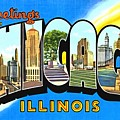 Greetings From Chicago Illinois by Vintage Collections Cites and States