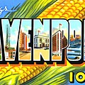 Greetings From Davenport Iowa by Vintage Collections Cites and States