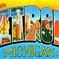 Greetings From Detroit Michigan by Vintage Collections Cites and States
