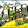 Greetings From Kansas by Vintage Collections Cites and States