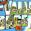 Greetings From Valley Forge Pennsylvania by Vintage Collections Cites and States