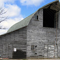 Grey Barn by Laurie With