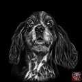 Greyscale Cocker Spaniel Pop Art - 8249 - Bb by James Ahn