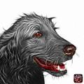 Greyscale Golden Retriever Dog Art- 5421 - Wb by James Ahn