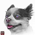 Greyscale Pomeranian Dog Art 4584 - Wb by James Ahn