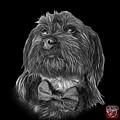 Greyscale Schnoodle Pop Art 3687 - Bb by James Ahn