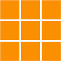 Grid In White 03-p0171 by Custom Home Fashions