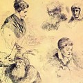 Griffonnage 1814 by Kiprensky Orest