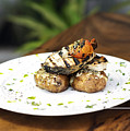 Grilled Fish With Roast Potato Herbs And Garlic by Jacek Malipan