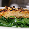 Grilled Salmon by Margie Avellino