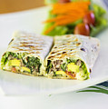 Grilled Vegetable And Salad Wrap by Jacek Malipan