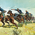 Grimes's Battery Going Up El Pozo Hill by Frederic Remington