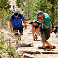 Grinding It Out On The Manitou Incline And Barr Trail by Steve Krull