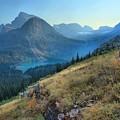 Grinnell Glacier Trail Hiker by Adam Jewell