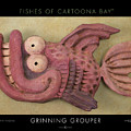 Grinning Grouper Cartoonafish by Tim Nyberg