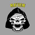 Grinning Mayhem Death Skull by Reggie Hart
