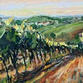 Grinzing Vineyard by Donna Tuten