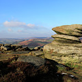 Gritstone Rocks On Hathersage Moor, Derbyshire County by Dave Porter