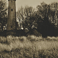 Grosse Point Lighthouse Sepia by Kyle Hanson
