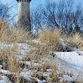 Grosse Point Lighthouse Winter Dunes by Kyle Hanson