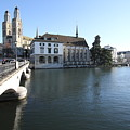 Grossmunster, Wasserkirche And Munsterbrucke - Zurich by Travel Pics