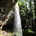 Grotto Falls Perspective by Marie Neder