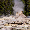 Grotto Geyser Eruption Two by Bob Phillips