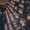 Grotto Of Our Lady Of Lourdes Candles  by John McGraw