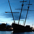 Grounded Tall Ship Silhouette by Oleksiy Maksymenko