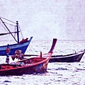 Group Of Fishing Boats by Atlantis Images