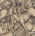 Group Of Seven Horses In Woods by Hans Baldung Grien