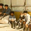 Group Of Uzbek Retirees by Heiko Koehrer-Wagner